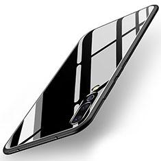 Silikon Schutzhülle Rahmen Tasche Hülle Spiegel für Huawei P20 Pro Schwarz