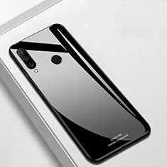 Silikon Schutzhülle Rahmen Tasche Hülle Spiegel für Huawei P30 Lite Schwarz