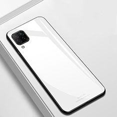 Silikon Schutzhülle Rahmen Tasche Hülle Spiegel für Huawei P40 Lite Weiß