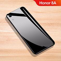 Silikon Schutzhülle Rahmen Tasche Hülle Spiegel für Huawei Y6 Pro (2019) Schwarz