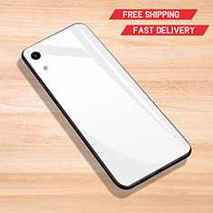 Silikon Schutzhülle Rahmen Tasche Hülle Spiegel für Huawei Y6 Pro (2019) Weiß