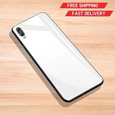 Silikon Schutzhülle Rahmen Tasche Hülle Spiegel für Huawei Y7 Prime (2019) Weiß