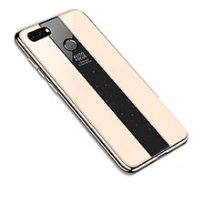 Silikon Schutzhülle Rahmen Tasche Hülle Spiegel für Huawei Y9 (2018) Gold