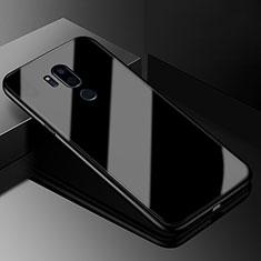 Silikon Schutzhülle Rahmen Tasche Hülle Spiegel für LG G7 Schwarz