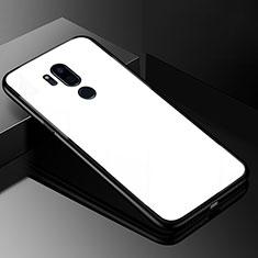 Silikon Schutzhülle Rahmen Tasche Hülle Spiegel für LG G7 Weiß