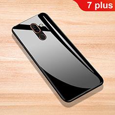 Silikon Schutzhülle Rahmen Tasche Hülle Spiegel für Nokia 7 Plus Schwarz