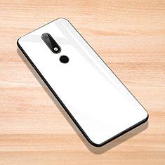 Silikon Schutzhülle Rahmen Tasche Hülle Spiegel für Nokia X6 Weiß