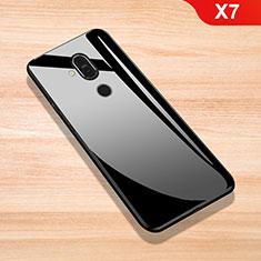 Silikon Schutzhülle Rahmen Tasche Hülle Spiegel für Nokia X7 Schwarz
