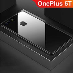 Silikon Schutzhülle Rahmen Tasche Hülle Spiegel für OnePlus 5T A5010 Schwarz