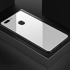 Silikon Schutzhülle Rahmen Tasche Hülle Spiegel für OnePlus 5T A5010 Weiß
