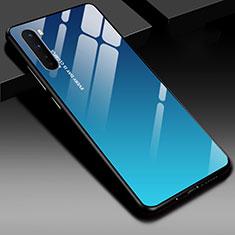 Silikon Schutzhülle Rahmen Tasche Hülle Spiegel für OnePlus Nord Blau