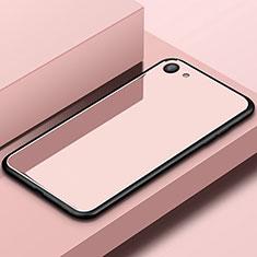 Silikon Schutzhülle Rahmen Tasche Hülle Spiegel für Oppo A3 Rosegold