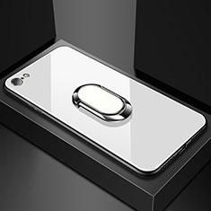 Silikon Schutzhülle Rahmen Tasche Hülle Spiegel für Oppo A71 Weiß