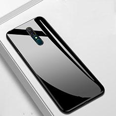 Silikon Schutzhülle Rahmen Tasche Hülle Spiegel für Oppo A9 Schwarz