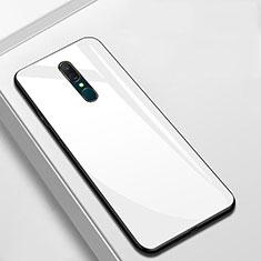 Silikon Schutzhülle Rahmen Tasche Hülle Spiegel für Oppo A9 Weiß