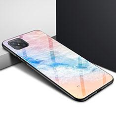 Silikon Schutzhülle Rahmen Tasche Hülle Spiegel für Oppo A92s 5G Orange