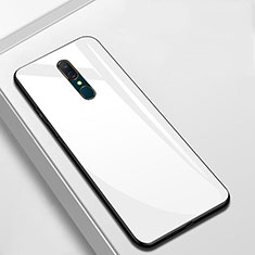 Silikon Schutzhülle Rahmen Tasche Hülle Spiegel für Oppo A9X Weiß