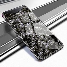Silikon Schutzhülle Rahmen Tasche Hülle Spiegel für Oppo Find X Schwarz