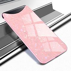 Silikon Schutzhülle Rahmen Tasche Hülle Spiegel für Oppo Find X Super Flash Edition Rosegold