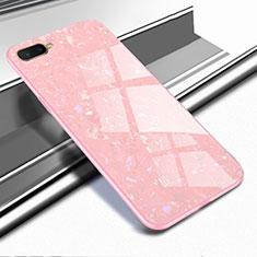 Silikon Schutzhülle Rahmen Tasche Hülle Spiegel für Oppo K1 Rosegold