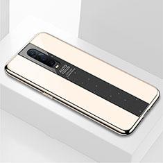 Silikon Schutzhülle Rahmen Tasche Hülle Spiegel für Oppo R17 Pro Gold