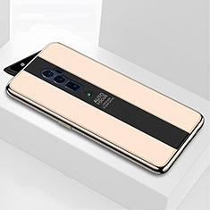 Silikon Schutzhülle Rahmen Tasche Hülle Spiegel für Oppo Reno 10X Zoom Gold