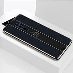 Silikon Schutzhülle Rahmen Tasche Hülle Spiegel für Oppo Reno 10X Zoom Schwarz