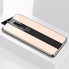 Silikon Schutzhülle Rahmen Tasche Hülle Spiegel für Oppo Reno Gold