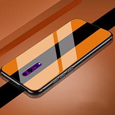 Silikon Schutzhülle Rahmen Tasche Hülle Spiegel für Oppo Reno Z Orange