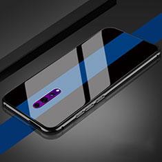 Silikon Schutzhülle Rahmen Tasche Hülle Spiegel für Oppo Reno Z Schwarz