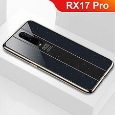 Silikon Schutzhülle Rahmen Tasche Hülle Spiegel für Oppo RX17 Pro Schwarz
