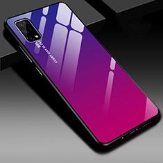 Silikon Schutzhülle Rahmen Tasche Hülle Spiegel für Realme V5 5G Pink