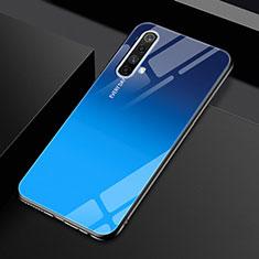 Silikon Schutzhülle Rahmen Tasche Hülle Spiegel für Realme X50 5G Blau