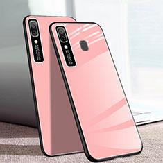 Silikon Schutzhülle Rahmen Tasche Hülle Spiegel für Samsung Galaxy A20e Rosa