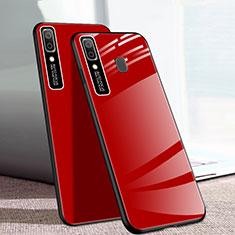 Silikon Schutzhülle Rahmen Tasche Hülle Spiegel für Samsung Galaxy A20e Rot