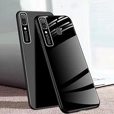 Silikon Schutzhülle Rahmen Tasche Hülle Spiegel für Samsung Galaxy A20e Schwarz