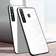 Silikon Schutzhülle Rahmen Tasche Hülle Spiegel für Samsung Galaxy A20e Weiß