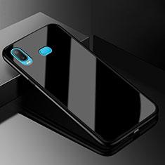Silikon Schutzhülle Rahmen Tasche Hülle Spiegel für Samsung Galaxy A6s Schwarz
