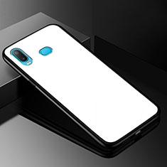 Silikon Schutzhülle Rahmen Tasche Hülle Spiegel für Samsung Galaxy A6s Weiß