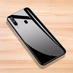 Silikon Schutzhülle Rahmen Tasche Hülle Spiegel für Samsung Galaxy A8s SM-G8870 Schwarz