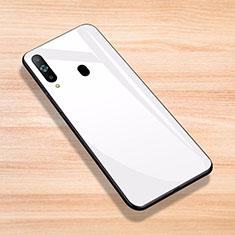 Silikon Schutzhülle Rahmen Tasche Hülle Spiegel für Samsung Galaxy A8s SM-G8870 Weiß