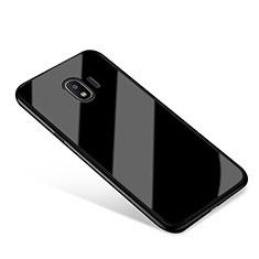 Silikon Schutzhülle Rahmen Tasche Hülle Spiegel für Samsung Galaxy J2 Pro (2018) J250F Schwarz