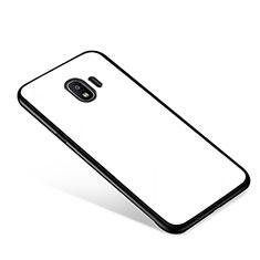 Silikon Schutzhülle Rahmen Tasche Hülle Spiegel für Samsung Galaxy J2 Pro (2018) J250F Weiß