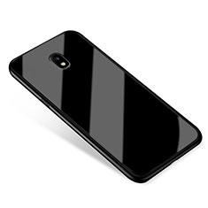 Silikon Schutzhülle Rahmen Tasche Hülle Spiegel für Samsung Galaxy J5 (2017) SM-J750F Schwarz
