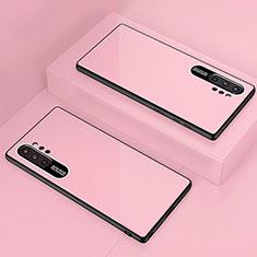 Silikon Schutzhülle Rahmen Tasche Hülle Spiegel für Samsung Galaxy Note 10 Plus 5G Rosegold