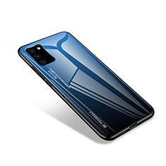 Silikon Schutzhülle Rahmen Tasche Hülle Spiegel für Samsung Galaxy S20 FE 4G Blau