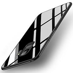 Silikon Schutzhülle Rahmen Tasche Hülle Spiegel für Samsung Galaxy S9 Schwarz