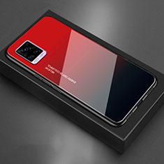 Silikon Schutzhülle Rahmen Tasche Hülle Spiegel für Vivo V20 Rot