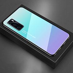 Silikon Schutzhülle Rahmen Tasche Hülle Spiegel für Vivo V20 SE Hellblau