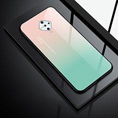 Silikon Schutzhülle Rahmen Tasche Hülle Spiegel für Vivo X50 Lite Grün
